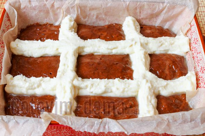 формируем творожный пирог