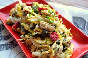 вкусный салат с мидиями рецепт