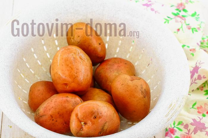 картофель промыть