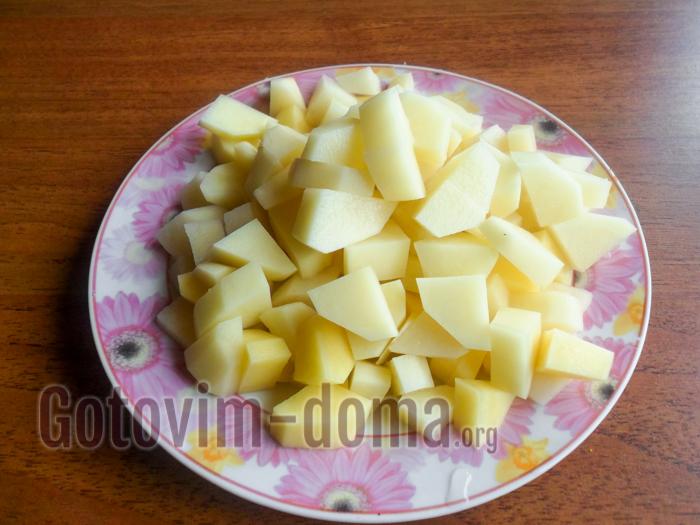 картофель измельчить