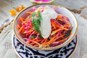 простой салат из редьки рецепт