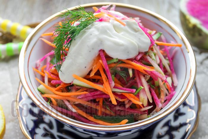 салат из арбузной редьки рецепт