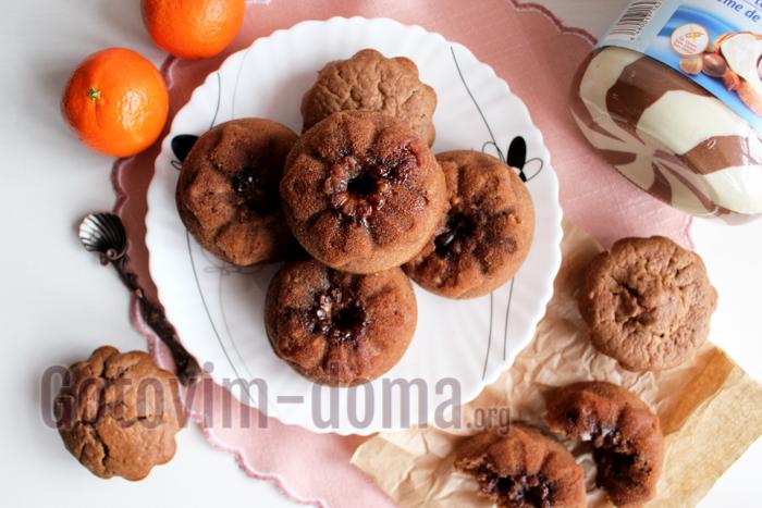 Шоколадные кексы на кефире, рецепт с фото