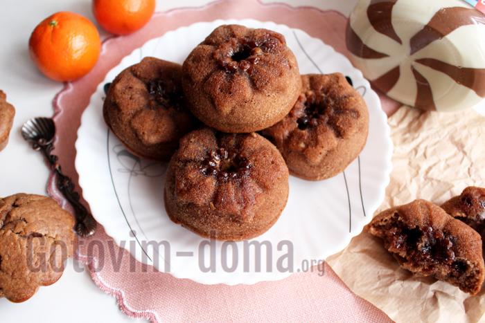 Шоколадные кексы на кефире, рецепт
