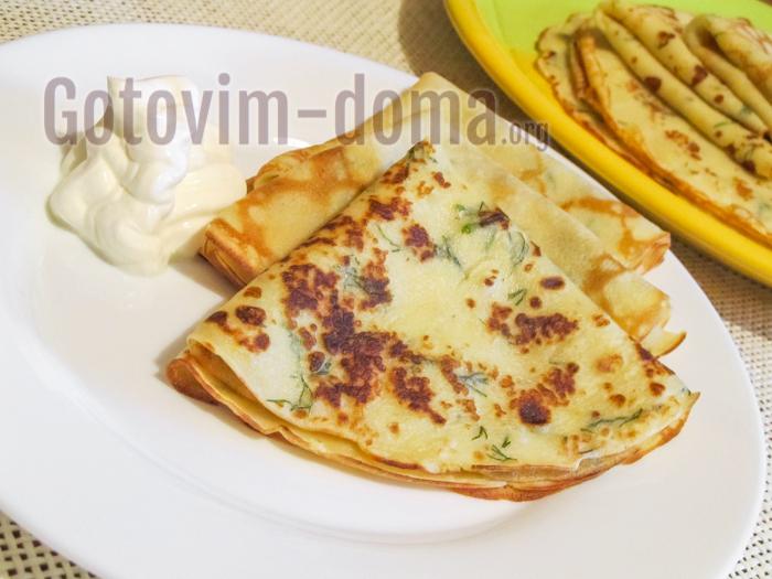 Рецепт тонких блинов с картофелем