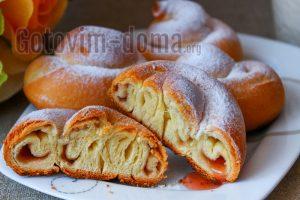 Нежные булочки Ensaimadas, рецепт
