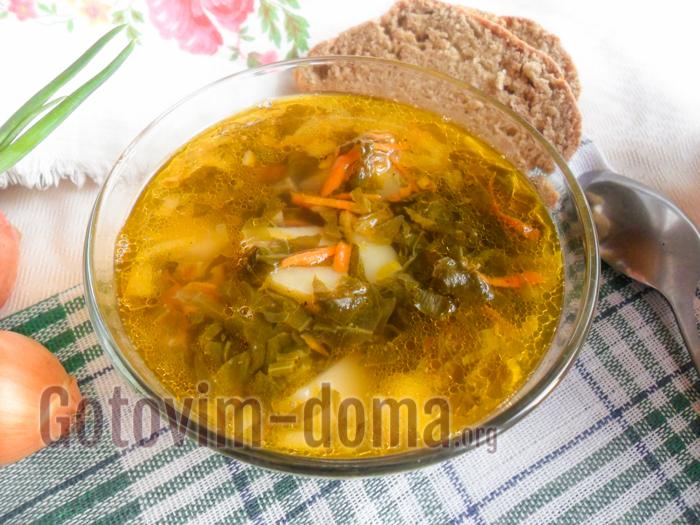 Простой рецепт зеленого борща со щавелем