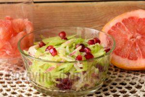 салат из зеленой и белой редьки