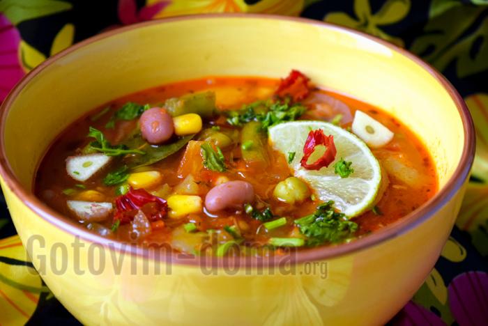 рецепт овощного мексиканского супа