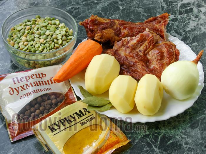 473Гороховый суп с рулькой пошаговый рецепт в мультиварке
