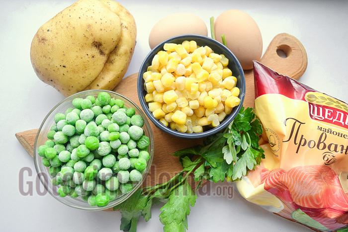 салат с картошкой фри ингредиенты