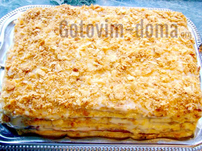 наполеон с масляным кремом рецепт с фото