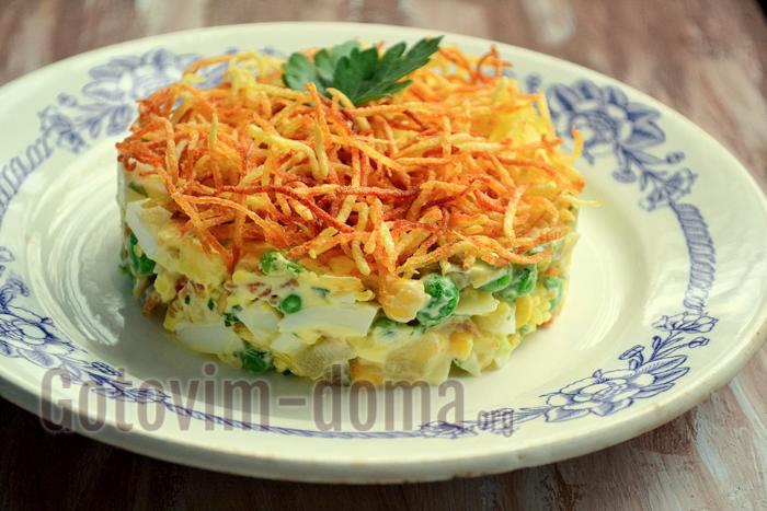 салат с картошкой фри рецепт с фото пошагово