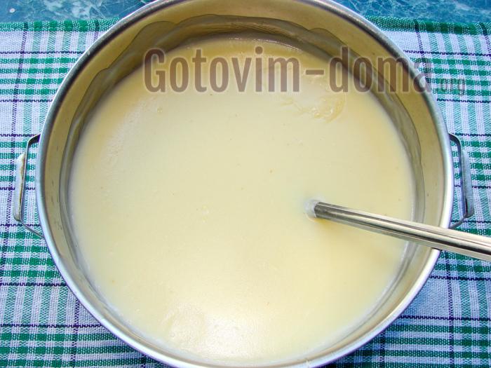 готовим заварной крем для наполеона