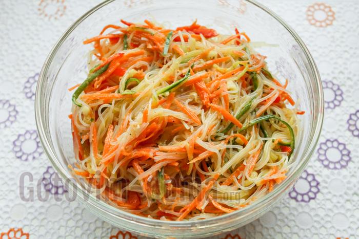 рецепт салата с фунчоза рецепт с фото пошагово