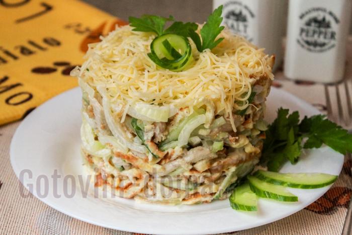 вкусный салат императорский рецепт с фото