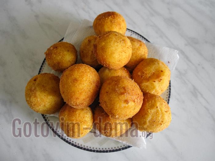 картофельные шарики из пюре рецепт во фритюре