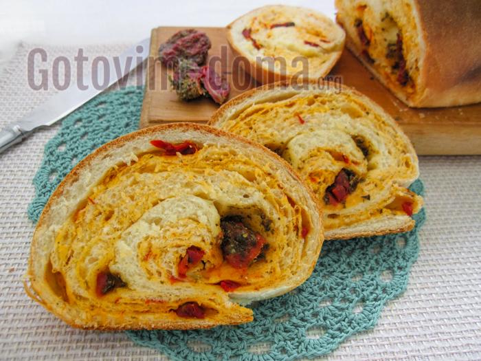 хлеб с томатами рецепт с фото