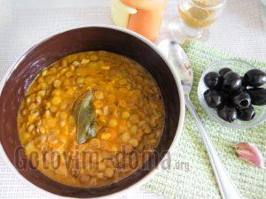 постный суп с чечевицей