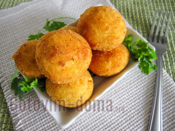 как сделать картофельные шарики из пюре