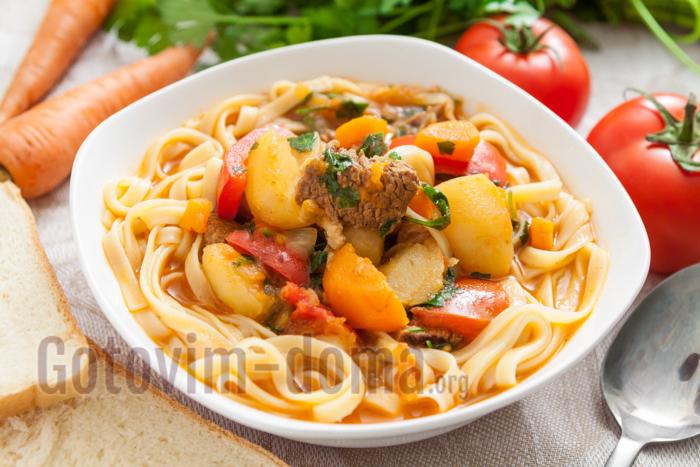 рецепты суп лагман в домашних условиях рецепт с фото