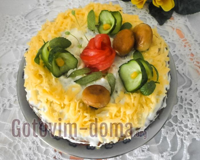 торт с кабачковыми оладьями