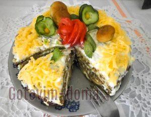 торт из кабачковых блинчиков пошагово с фото