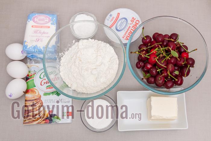 творожный пирог ингредиенты