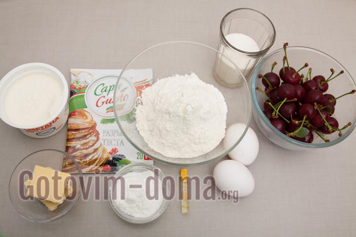 вишневый пирог, фото ингредиентов