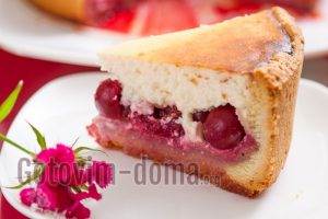 как приготовить творожный пирог с вишней рецепт с фото