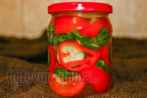 салат на зиму из помидоров, огурцов и перца
