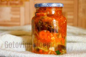 Баклажаны с морковью и помидорами на зиму