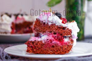 вкусный вишневый торт рецепт с фото