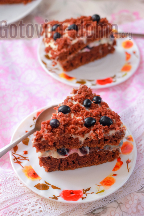 шоколадный торт с кремом пломбир рецепт