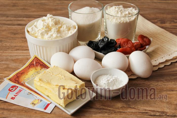 кекс творожный, ингредиенты