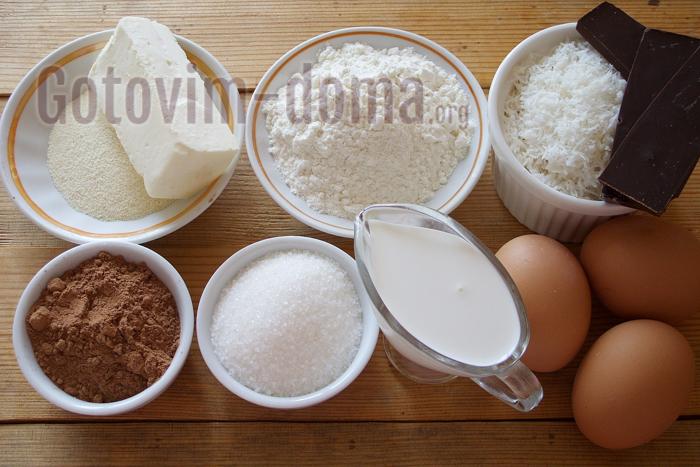 ингредиенты для торта баунти