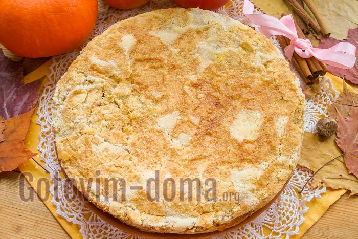 вкусный насыпной пирог с яблоками