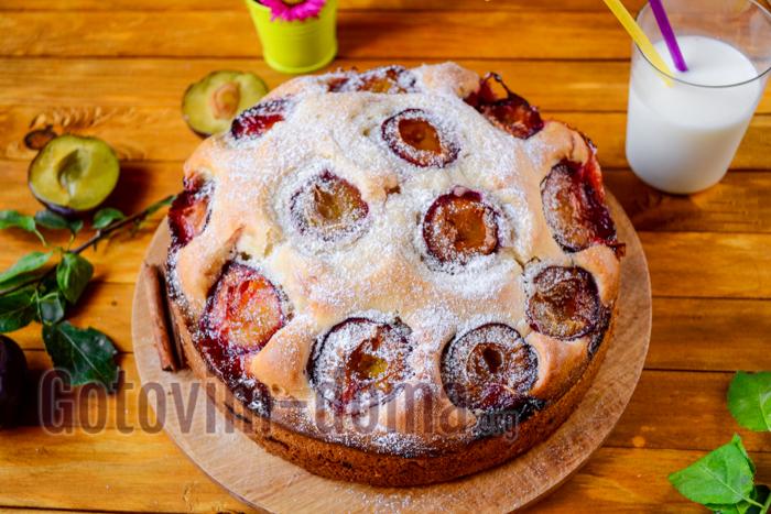 рецепт пирога со свежей сливой
