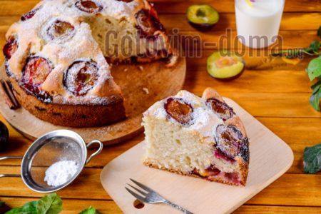 простой пирог со сливой быстро вкусно