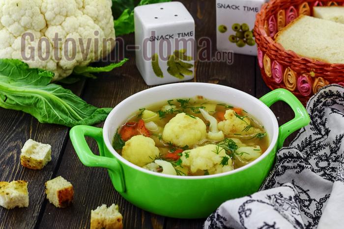 Как сварить суп из цветной капусты в домашних условиях