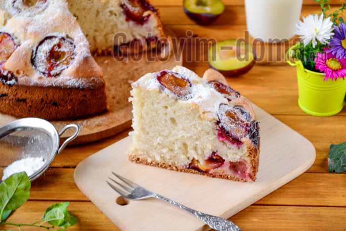пирог со сливами простой рецепт с фото