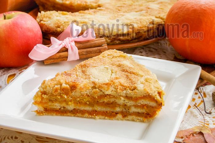 Насыпной яблочный пирог в духовке рецепт с фото