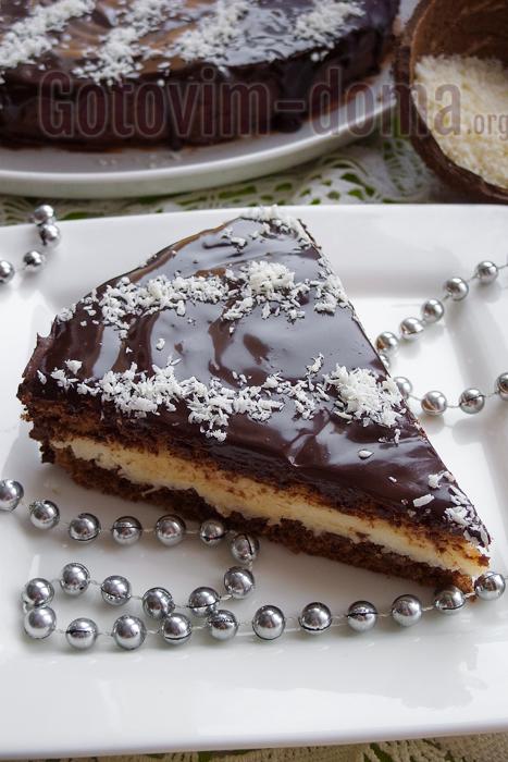 """нежнейший шоколадный торт с кокосом """"баунти"""""""