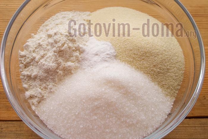 рассыпчатые ингредиенты в миске
