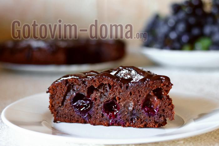 готовим дома пирог с виноградом