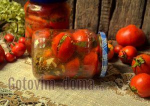 домашние помидоры на зиму фаршированные чесноком и зеленью