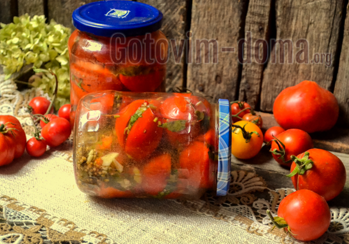 готовим дома помидоры на зиму фаршированные чесноком и зеленью