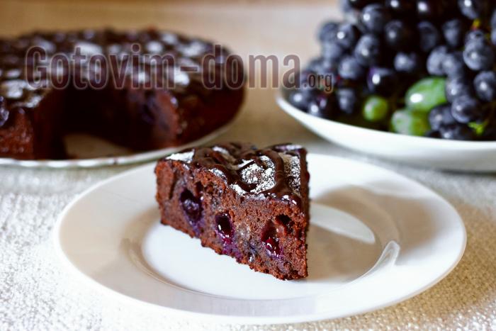 Пирог с виноградом, рецепт с фото пошагово