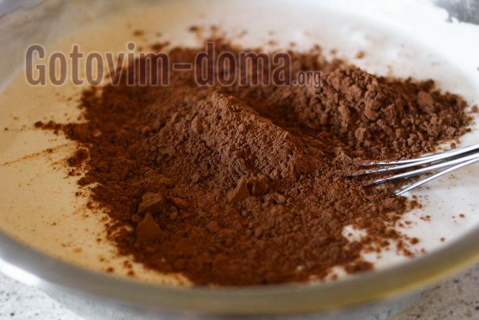всыпаем какао порошок