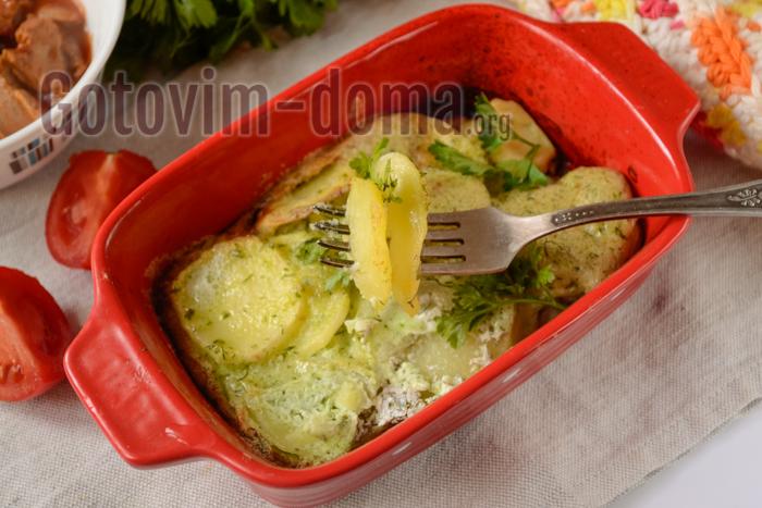 картошка запеченная в сметане в духовке
